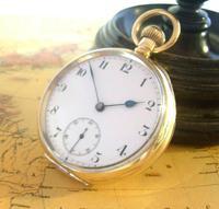 Antique Omega Labrador Pocket Watch 1912 15 Jewel 10ct Rose Gold Filled Case FWO (3 of 12)