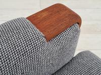 1960s, Restored Danish High-backed Armchair, Model Congo, Furniture Wool (6 of 13)