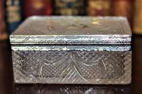Extremely Attractive & Very Finely Cut Crystal Glass Box (5 of 6)