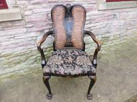 Stylish Regency Chinoiserie Lacquered Desk Chair