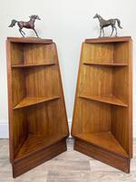Pair of Mid Century G Plan E Gomme Pyramid Teak Open Corner Bookcases (2 of 38)