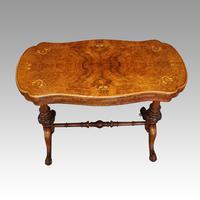 Victorian Serpentine Burr Walnut Card Table (11 of 12)