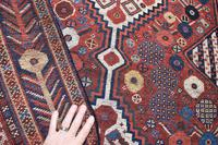 Antique Khamseh tribal rug 217x124cm (3 of 10)