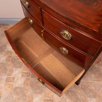 19th Century Mahogany Bow Fronted Chest of Drawers (15 of 15)
