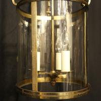 French Gilded Triple Light Antique Lantern (5 of 10)