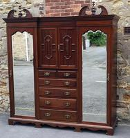 Large Edwardian Walnut Princess Wardrobe (2 of 10)