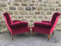 Pair of Antique English Upholstered Armchairs For Recovering (7 of 7)