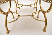 Pair of 1970's Vintage Brass Stools (5 of 9)