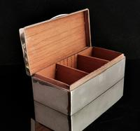 Antique Silver Cigarette Box, Heavy, Edwardian (11 of 13)