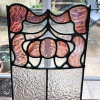 Antique Stained Glass Panel with Pink Glass Detail (9 of 10)