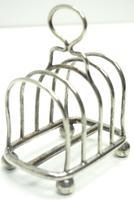 English Antique Solid Silver Art Deco Toast Rack, Super Design Fresh & Clean c.1920 (2 of 5)