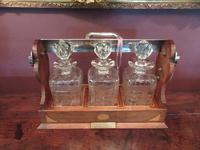 Antique Sheraton Inlaid Three Bottle Tantalus (8 of 12)
