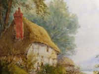 Watercolour Mill Cottage Reigate Listed Artist H Rawson (7 of 13)