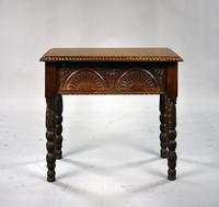 1930s Oak Carved Stool (2 of 8)