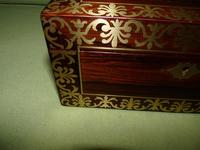 QUALITY Inlaid Regency Rosewood Jewellery Box + Tray. c1830 (6 of 15)