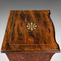 Antique Music Cabinet, English, Rosewood, Display Case, Inlay, Victorian c.1870 (9 of 12)