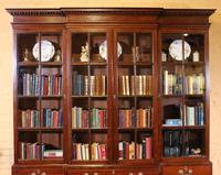 Four Doors Breakfront Bookcase In Mahogany - Early 19th Century (2 of 11)