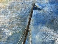 """20th Century Marine Oil Painting """"Sea Captains View From the Deck"""" Ships By Shoreline (11 of 15)"""