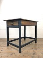 Antique Oak Side Table with Drawer (11 of 11)