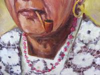 Pair of oils on canvas the odd couple Brazilian artist Chediac (9 of 10)