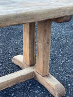 Large French Rustic Bleached Oak Farmhouse Dining Table (11 of 36)