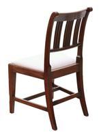 Pair of Georgian mahogany dining side hall bedroom chairs (3 of 7)