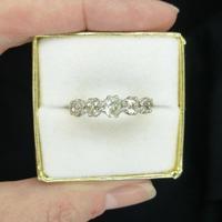 Vintage 18ct Old Mine Cut Diamond Five Stone Ring 1.35ct (10 of 10)