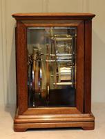 Mahogany Four Glass Ting Tang Mantel Clock (5 of 9)
