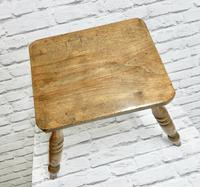 Antique 4-leg Country Stool (5 of 6)