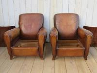Pair of French Leather Club Chairs (3 of 9)