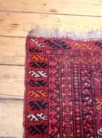 Handmade Bokhara wool rug vibrant red ground (4 of 11)