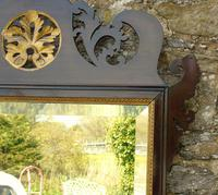 Good Large Georgian Mahogany Fretwork Gilt Mirror (5 of 7)