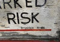 Hand Painted Prison Sign (2 of 5)