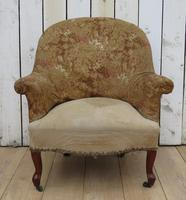 Antique French Tub Chair For Re-upholstery (2 of 8)