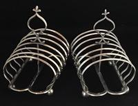 Pair of Victorian  Silver Plated Toast Racks c.1870 (2 of 5)