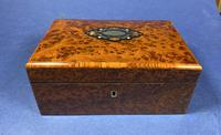 Victorian  French Burr Cedar Jewellery Box with It's Original Interior (8 of 13)