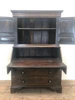 Antique 18th Century Welsh Oak Two Stage Bureau Cupboard (6 of 15)