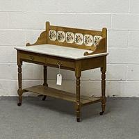 Edwardian Marble Top Washstand (3 of 6)