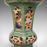Antique Plant Stand, English, Ceramic, Decorative, Hall, Jardiniere, Victorian (6 of 12)