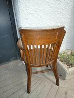 10 1920's Solid Oak Chairs (5 of 7)