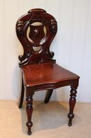 Mid Victorian Mahogany Hall Chair (2 of 8)
