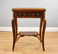 Victorian Rosewood Envelope Card Table (2 of 12)