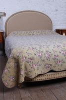 French Newly Upholstered Bow End King Size Bed (8 of 8)