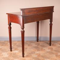Edwardian Inlaid Mahogany 2 Drawer Side Table (15 of 15)