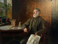 BAD NEWS FROM THE WAR! 'Walter Tomlinson' Portrait Oil Painting (3 of 16)