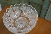 Large French Tazza Etched Cristal Pedestal Fruit Dish (4 of 5)
