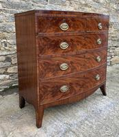 Regency Flame Mahogany Bow Front Chest of Drawers (4 of 17)