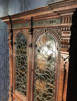 Victorian Carved Oak Secretaire Bookcase (13 of 25)