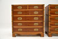 Pair of Yew Wood Military Campaign Style Chests (4 of 14)