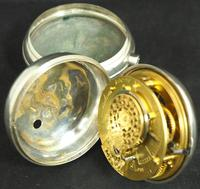 Antique Silver Pair Case Pocket Watch Fusee Verge Escapement Key Wind Enamel Dial Richardson London (6 of 13)